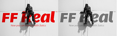 Italics were added to FF Real. For a limited time' get either the Text or Head sets for just 99$/€' or the Complete Suite for 189$/€. Offer ends May 11' 2017.
