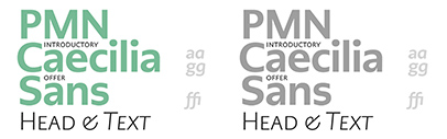 Monotype released PMN Caecilia Sans' a sans serif companion to PMN Caecilia. 50% off for a limited time.