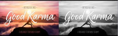 @positype released Good Karma' a new script typeface family.