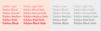 @monokromfonts added italics and three new weights to Telefon.