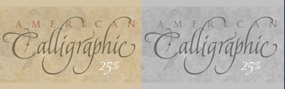 American Calligraphic by TypeSETit. 25% off until July 7.