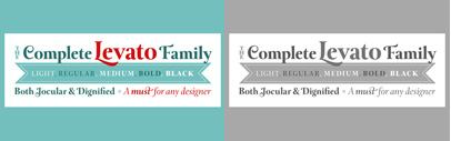Today/250 Units ONLY! The Levato Complete Family Pack for $99 – 10 fonts at 80% off!