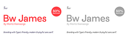 Branding with Type released Bw James. 50% off until June 30.