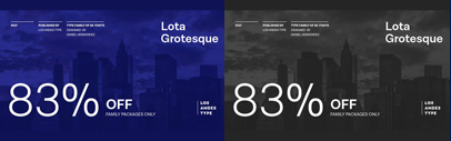 Lota Grotesque by Los Andes. Lota Grotesque Complete Family is 83% off July 15.