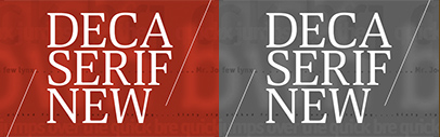 @ParaTypeNews released Deca Serif New. $5 per style until June 12.