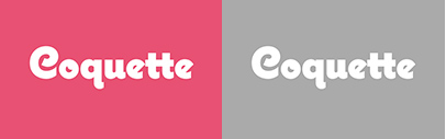 Coquette 2.0' with three new weights (Thin' Extrabold' and Black) and some useful new features.