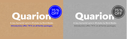 Quarion by Rene Bieder. 75% off until August 17.