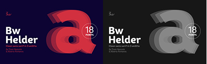 Branding with Type released Bw Helder. Introductory offer 70% off untli August 25.