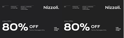 Los Andes released Nizzoli. The packages are 80% off until Sep 2.