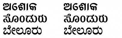 @itfoundry released Ashoka Odia' Belur Kannada and Sandur Kannada.