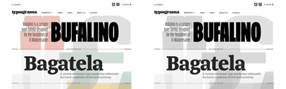@Typograma's shop is now open. Bufalino & Bagatela are available. (They've been already available at Typekit.) All their fonts are 25% off until August 12th with a coupon code. See a post of theirs on FB.