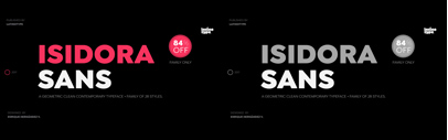 @Latinotype released Isidora Sans. Isidora Sans Complete Family is 84% off until October 1.