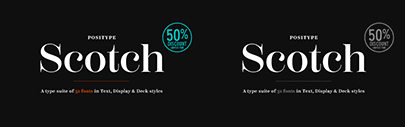 @positype released Scotch. The packages are 50% off until October 7.