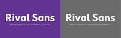 RIval Sans by @mostardesign. 85% off until October 7.
