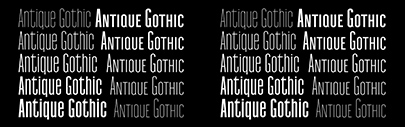 @ProductionType released Antique Gothic.