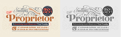 @sudtipos released Proprietor. 50% off until Oct 28.