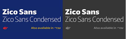 @typotheque released Zico Sans and Zico Sans Condensed.