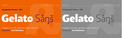 Borutta Group released Gelato Sans designed by Ania Wieluńska. 80% off until Dec 8.