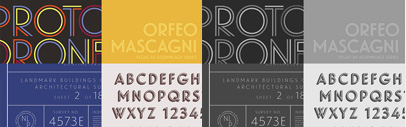 Landmark by H&FJ: an architectural font inspired by the letters on Lever House in New York. It includes three new designs: a keen Inline' a contemplative Shadow' and a dazzling Dimensional.