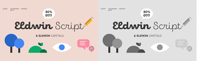 Eldwin designed by Ksenia Belobrova. 80% off until January 12.