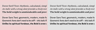 @tinytypeco released Dover Serif Text and Dover Sans Text.