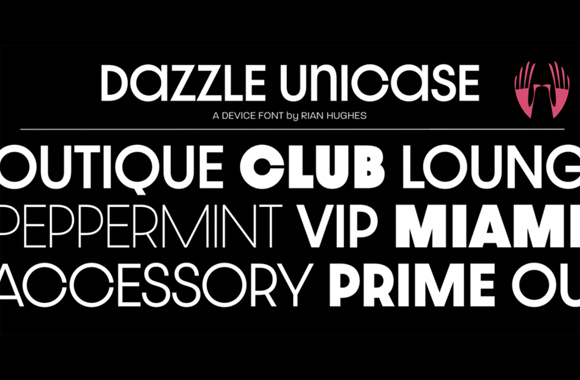 Font News [New Font Release] Device released Dazzle Unicase