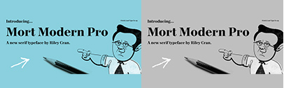 Mort Modern designed by @rileycran. It comes with three optical sizes.
