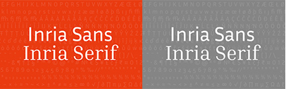 @blackfoundry designed Inria Serif and Inria Sans for Inria. Inria Serif and Inria Sans are available under the SIL Open Font License 1.1.