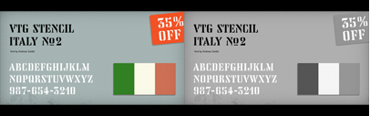 Astype released Vtg Stencil Italy No. 2. 35% off until February 17th.