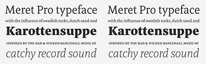 Meret is back! @TypeMatesFonts released Meret Pro' a new version of Meret' designed by Nils Thomsen. Meret Pro Family is 50% off for a limited time.