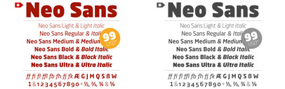 The complete Neo Sans Pro family for only € 99.00 – only available for 24 hours!