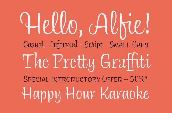 Font News [New Font Release] Monotype released Alfie designed by Jim