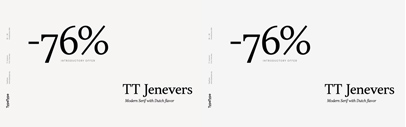 TypeType released TT Jenevers. 76% off until March 31.
