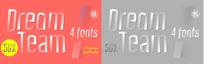 DreamTeam by Resistenza. 50% off until March 28.