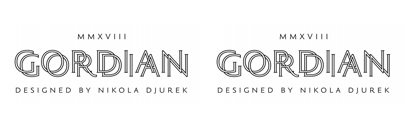 @typotheque released Gordian designed by Nikola Djurek.