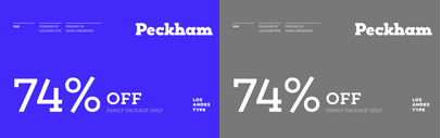 Peckham designed by Daniel Hernández. Peckham Family is 74% off until April 6.