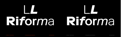 @lineto_com released LL Riforma designed by Norm.