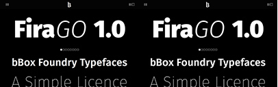 bBox Type launched with several new typefaces.