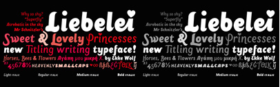 Liebelei Pro Italic is 75% off till March 30th.