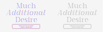 MAD Serif and Sans now available in Black and Black Italic.