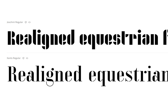 Font News [New Font Release] Adobe released Joschmi and Xants based