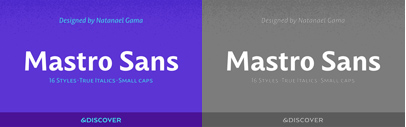 Ndiscover released Mastro Sans.