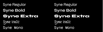 Syne originally designed for the art center Synesthésie is now available under the SIL Open Font License Version 1.1.