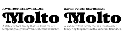 Type Together released Molto designed by Xavier Dupré.