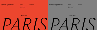 New foundry: General Type Studio (@general_type) run by Stéphane Elbaz. Cambon' Mier and Pilat are available.