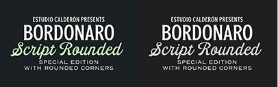 Estudio Calderon released Bordonaro Script Rounded and Bordonaro Spur Rounded.