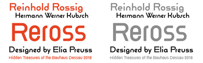 Reross was added to Adobe's Hidden Treasures of the Bauhaus Dessau.