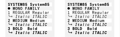 @colophonfoundry released System85.