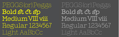 @colophonfoundry expanded Peggs.
