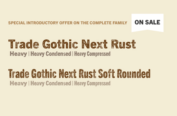 Font News [New Font Release] Monotype released Trade Gothic
